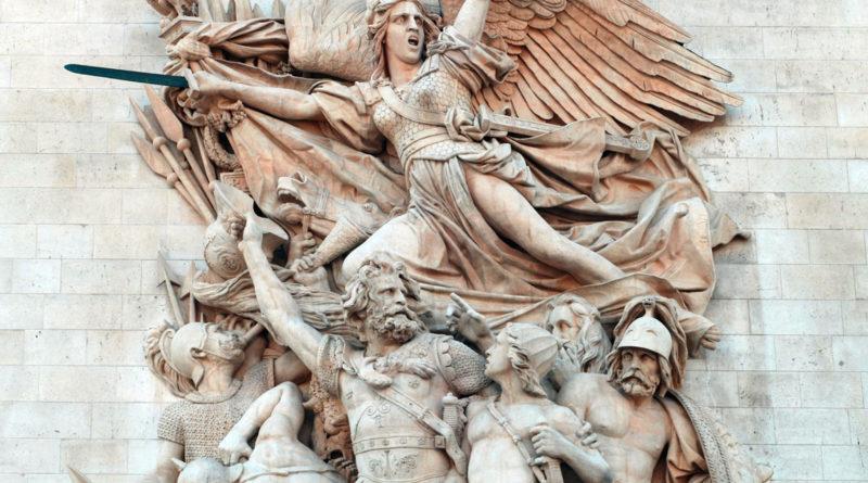 Allegoria de La Marsigliese scolpita sull'Arco di Trionfo (Parigi)