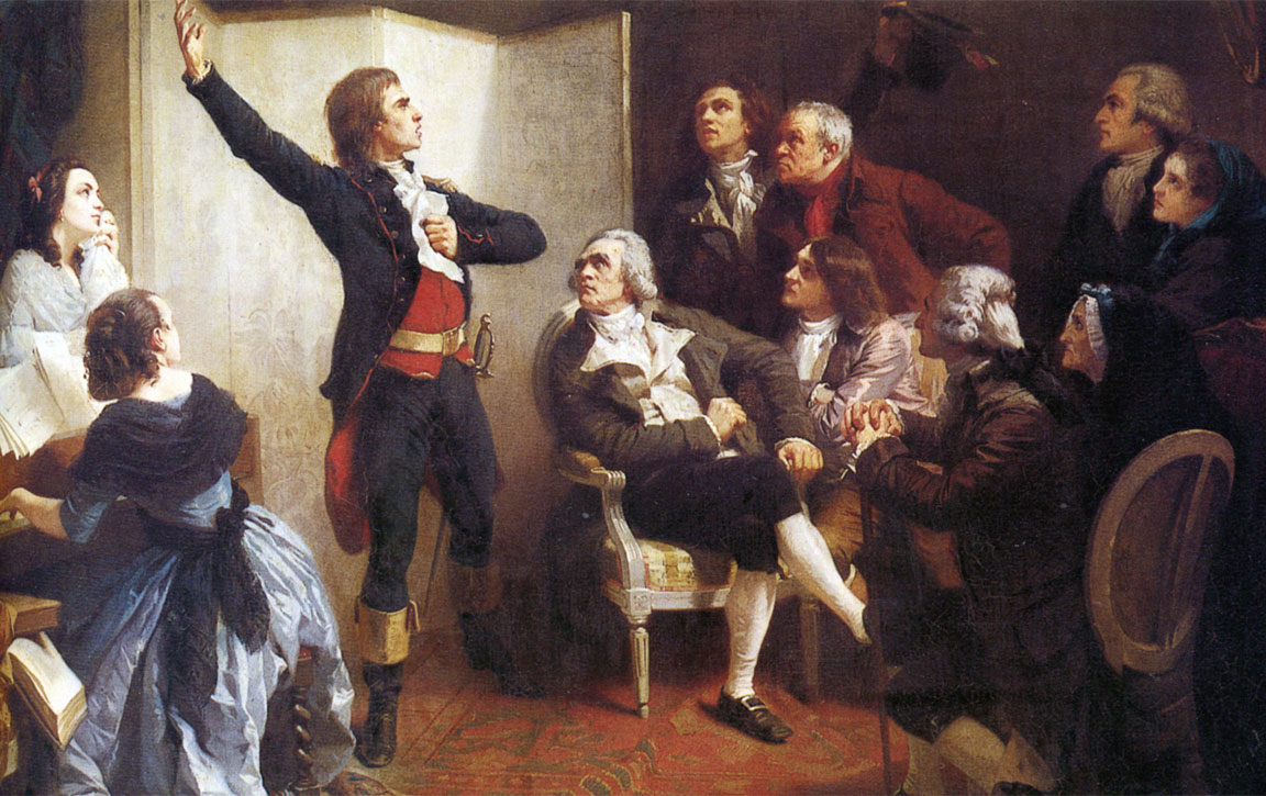 Quadro di Isidore Pils: Rouget de Lisle canta La Marsigliese