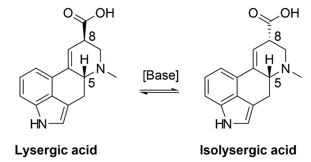 La formula dell'acido lisergico