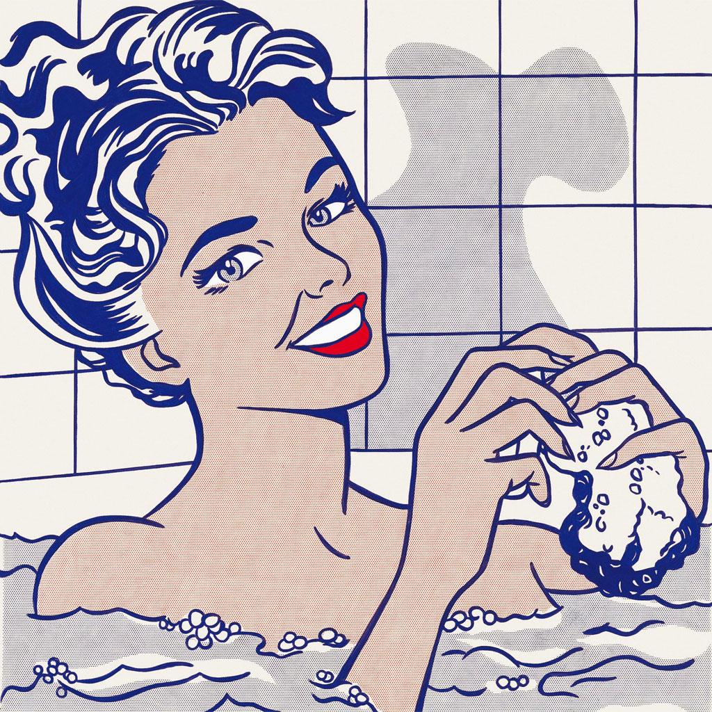 Roy Lichtenstein - donna nel bagno