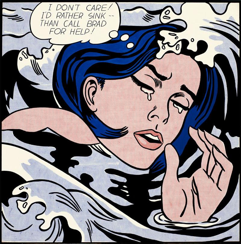 Roy Lichtenstein - donna che piange - acqua