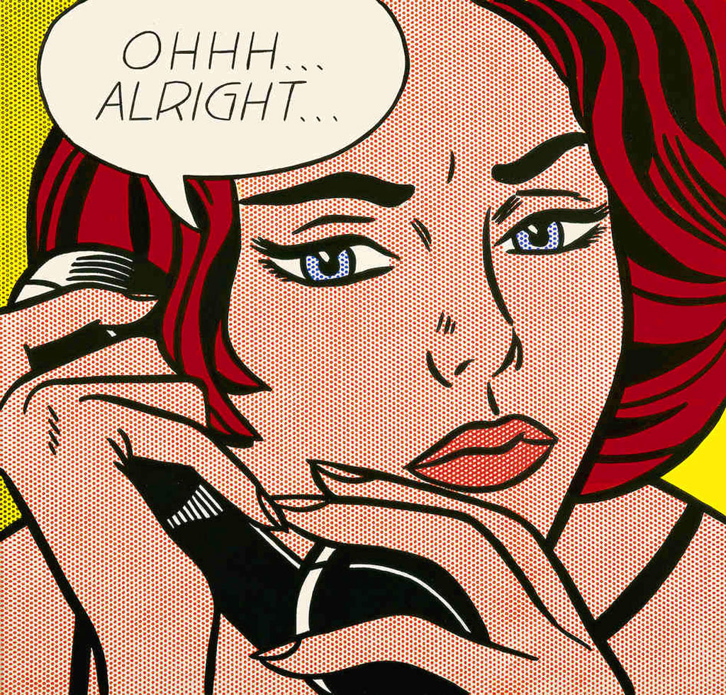 Roy Lichtenstein, donna fumetto, Pop Art