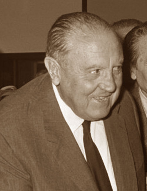 Una foto del 1967 di Santiago Bernabeu