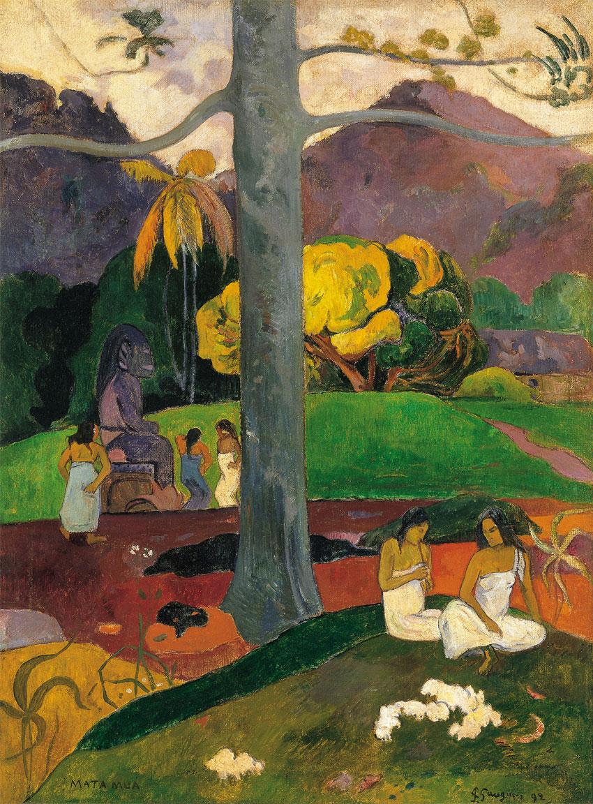 Mata Mua (1892) quadro di Paul Gauguin
