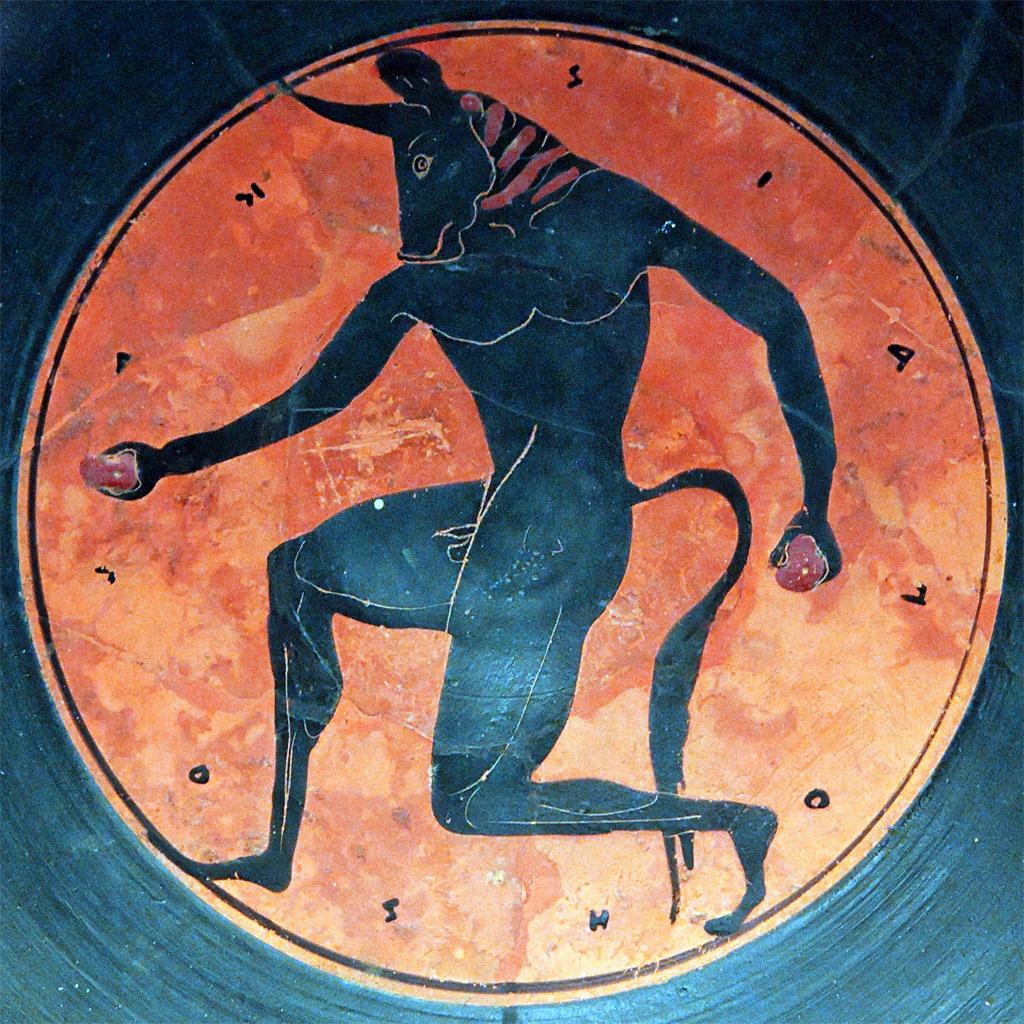 Il Minotauro in una foto mitologica