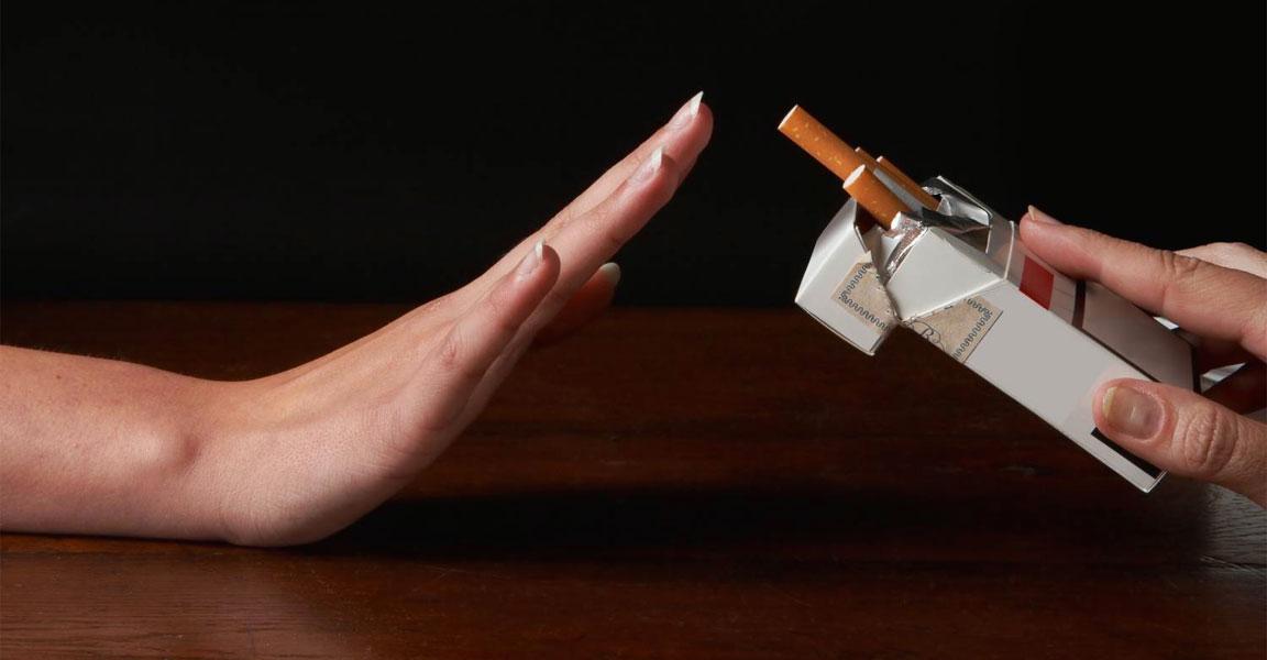 Rifiutare le sigarette e il fumo