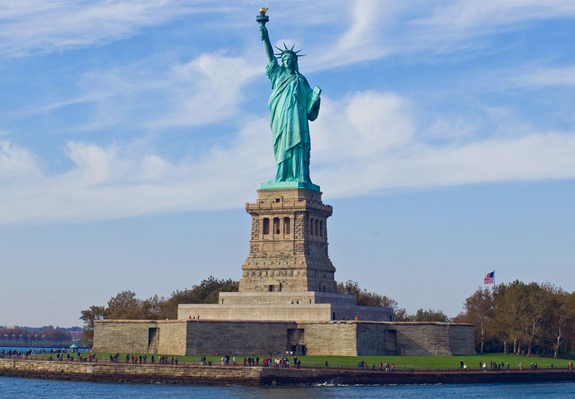 Una foto della statua della Libertà a New York