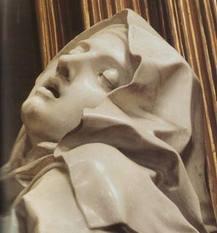 """Bernini, Roma: dettaglio della scultura """"Estasi di Santa Teresa d'Avila"""""""