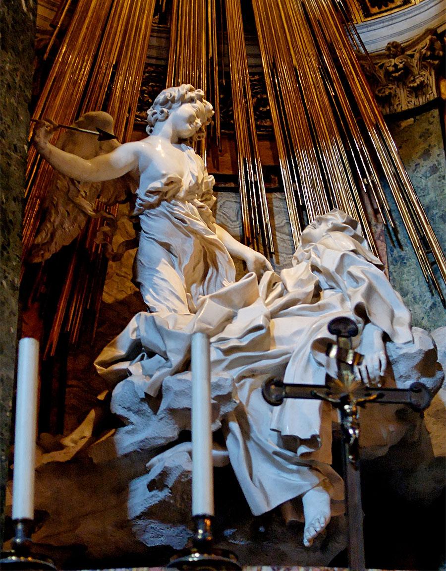 L'estasi di Santa Teresa d'Avila - opera di Gian Lorenzo Bernini
