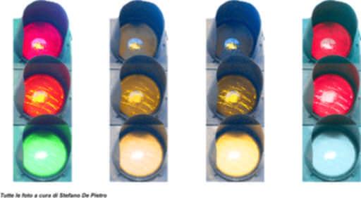 Daltonismo: foto e colori dei semafori