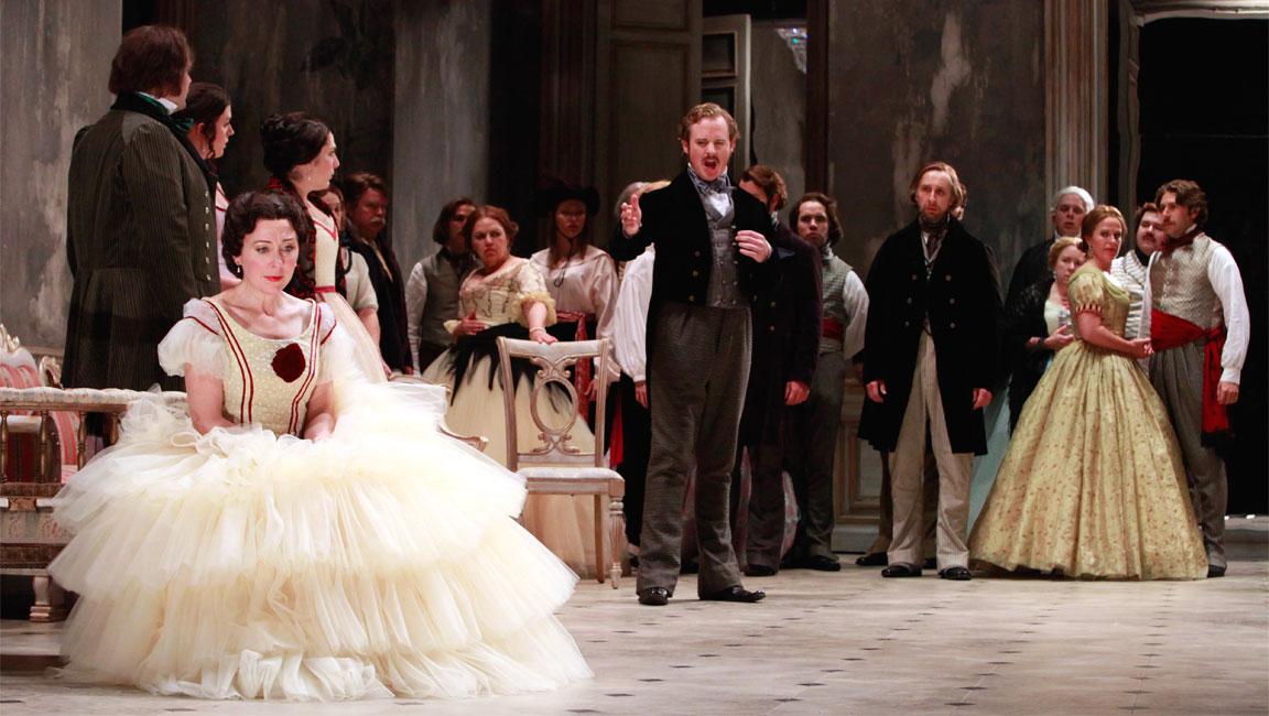 Scena teatrale tratta da La traviata, di G. Verdi