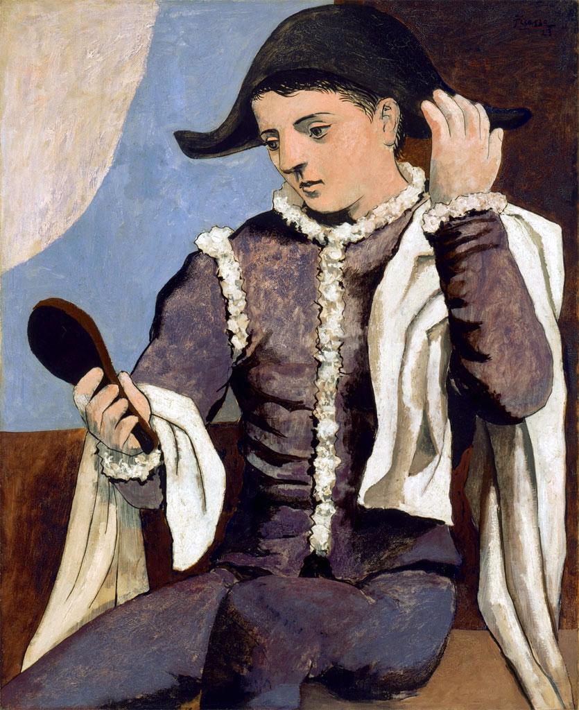 Pablo Picasso - Arlecchino allo specchio - 1923