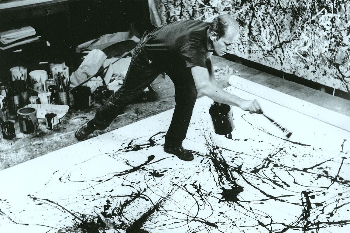 Jackson Pollock in una foto di Hans Namuth