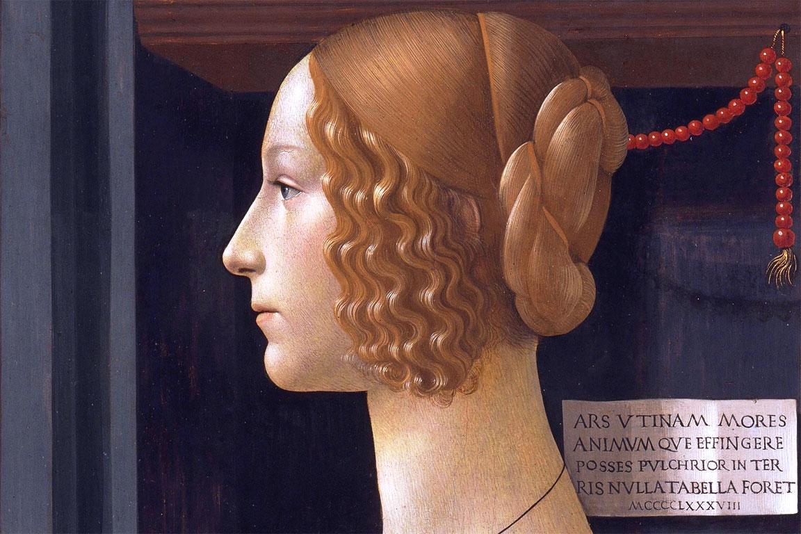 Ritratto di Giovanna Tornabuoni - dettaglio del quadro del Ghirlandaio