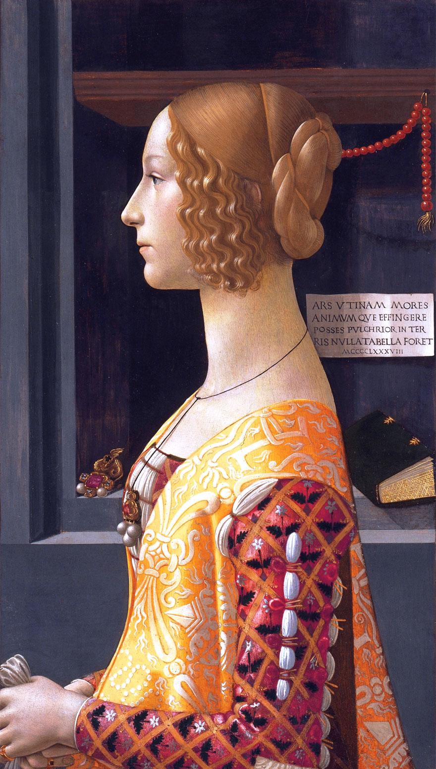 Ritratto di Giovanna Tornabuoni - di Domenico Ghirlandaio