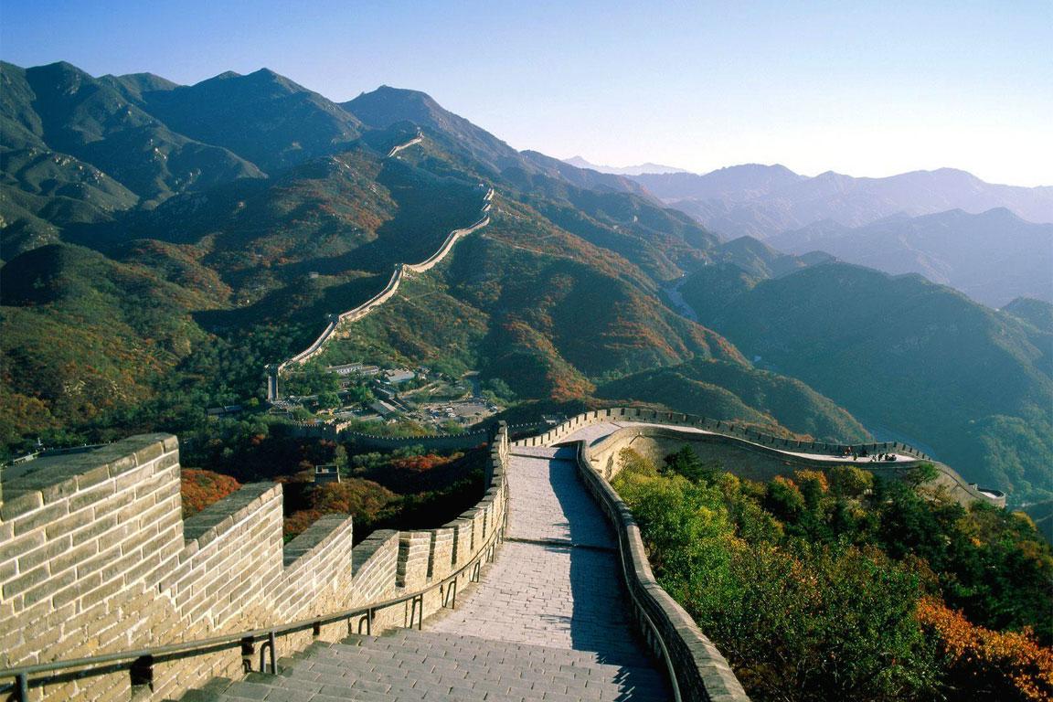Una foto della Grande Muraglia cinese