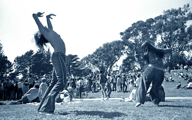 woodstock 1969 - una scena