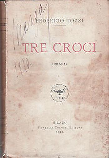"""Copertina del libro """"Tre Croci"""", di Federigo Tozzi"""