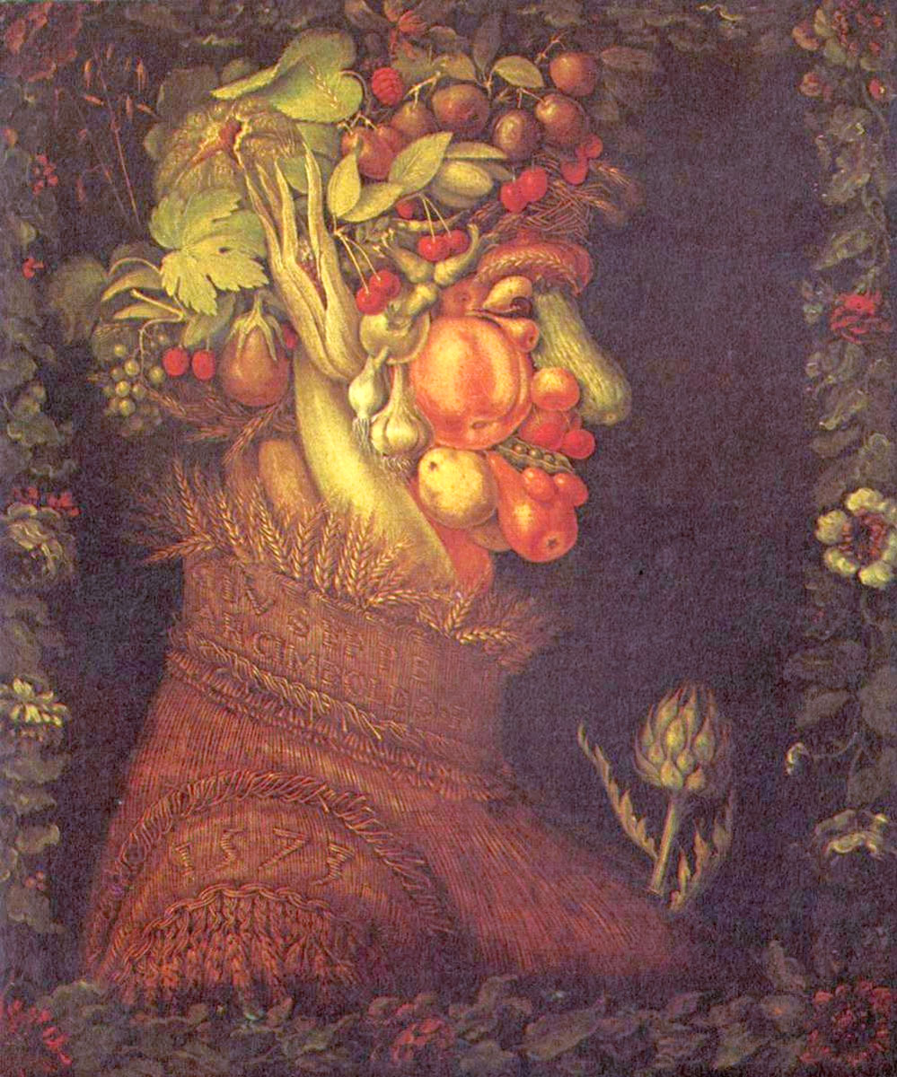 Estate, opera di Giuseppe Arcimboldo, 1563
