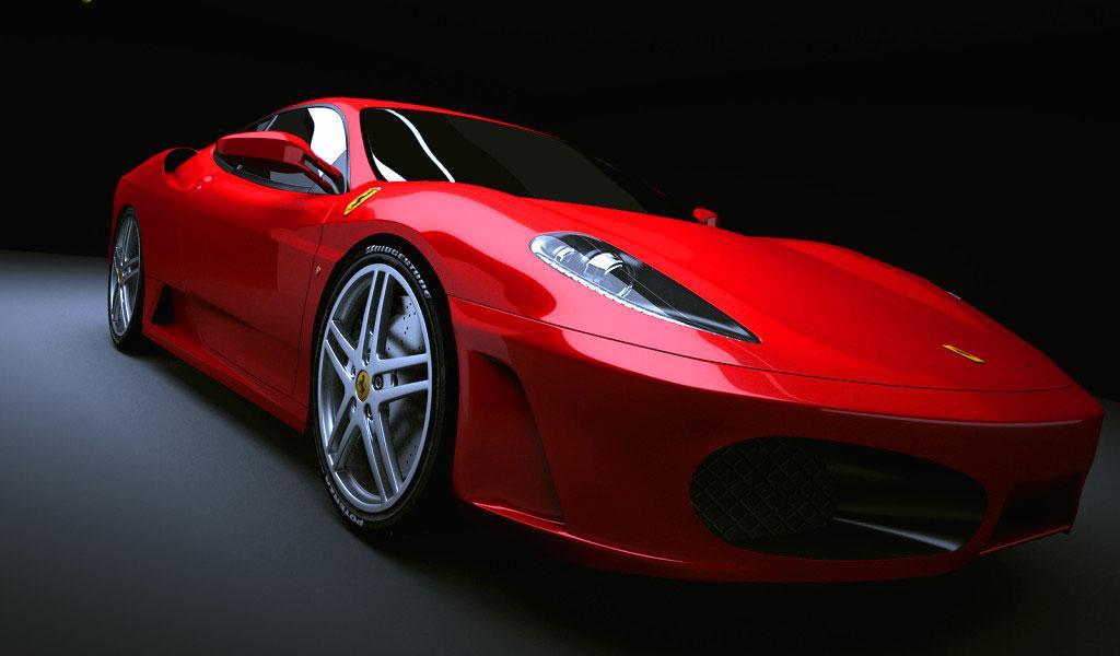 Una fiammante Ferrari di colore rosso