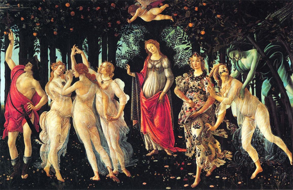 La primavera di Botticelli, 1482