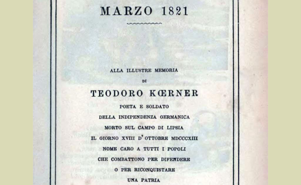 Marzo 1821 (di Alessandro Manzoni)