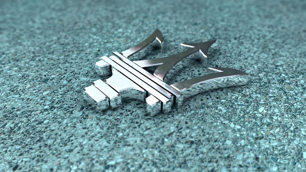 Il simbolo del tridente Maserati
