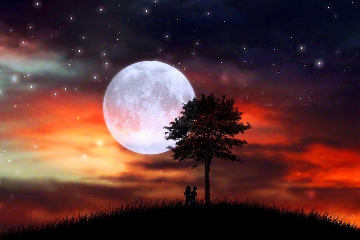 Tramonto della luna