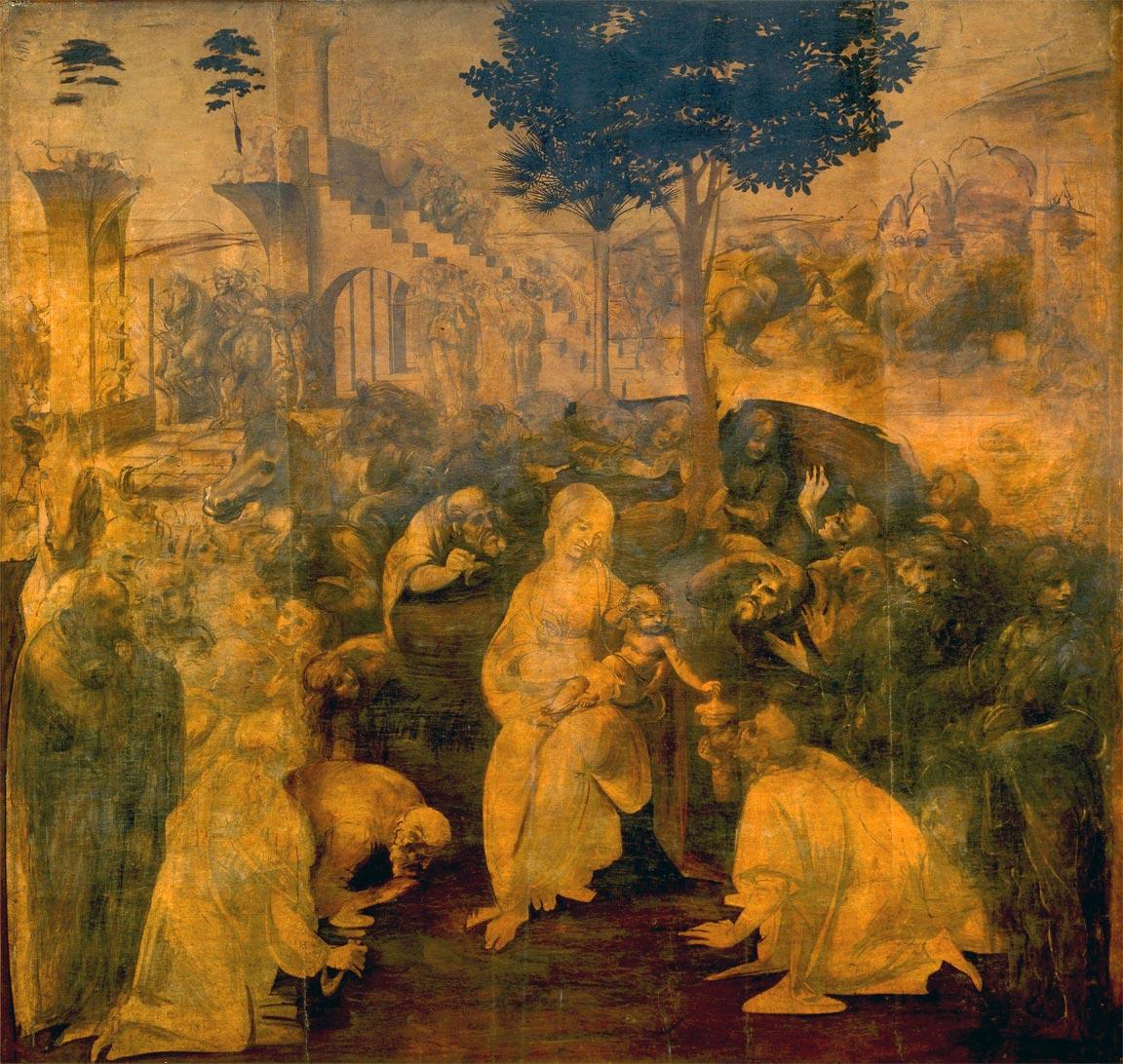 Adorazione dei Magi (1481) opera di Leonardo