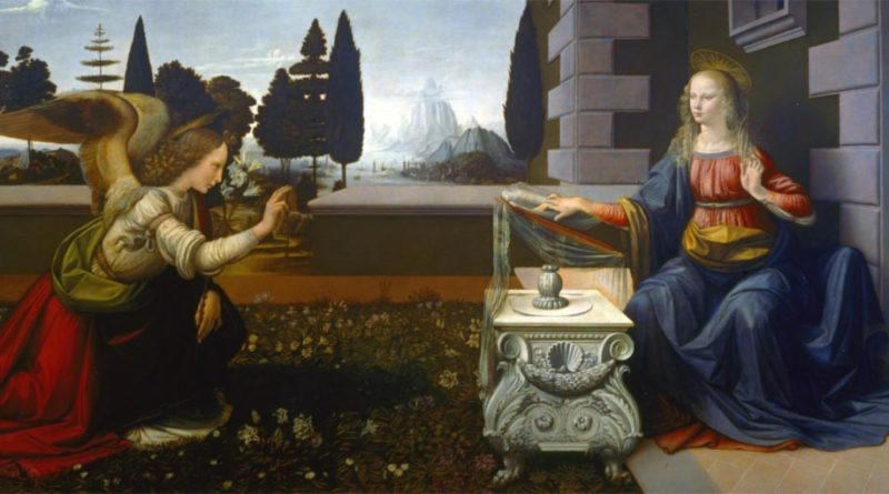 Leonardo da Vinci Annunciazione 1475