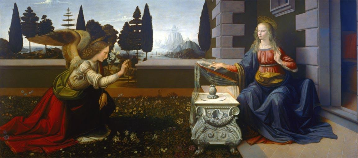 Leonardo da Vinci: L'Annunciazione (1475)
