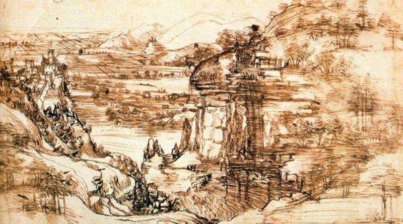Leonardo da Vinci Paesaggio d'Arno 1473