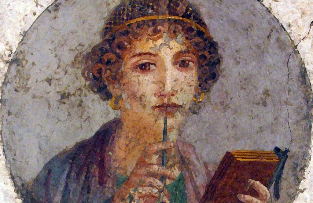 Una raffigurazione della poetessa greca Saffo