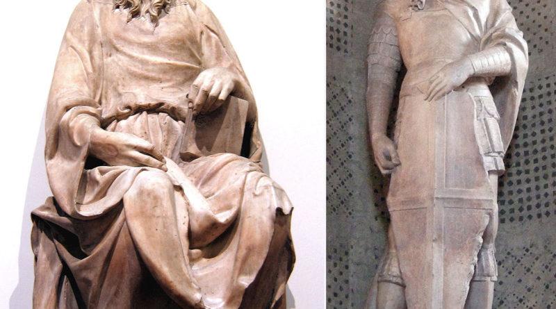 Sculture di Donatello San Giovanni Evangelista e San Giorgio