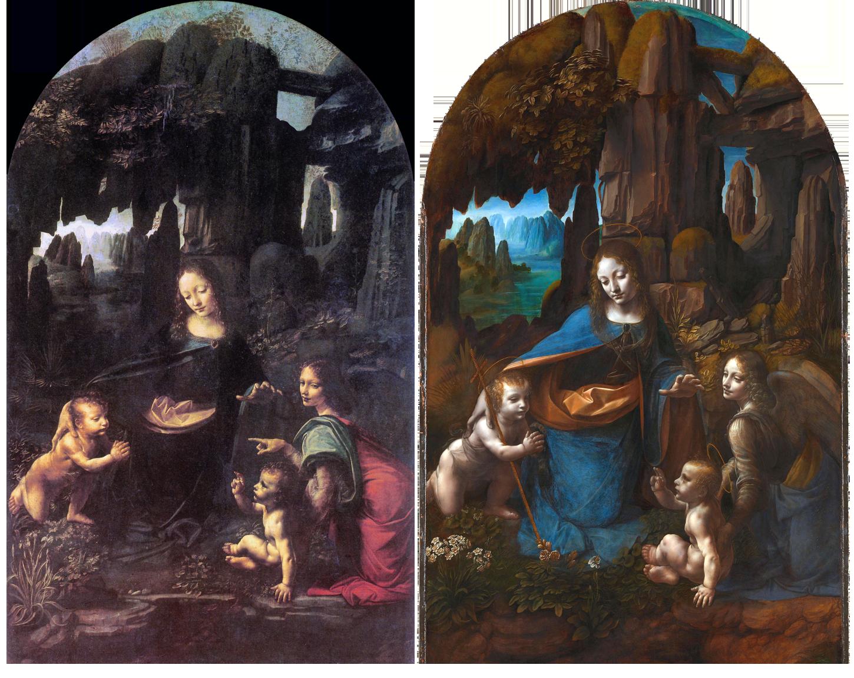 Vergine delle rocce - Parigi e Londra