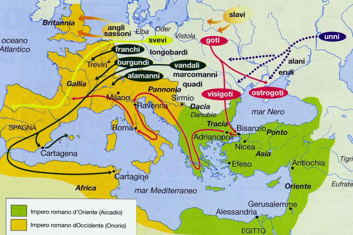 La caduta e la fine dell'Impero Romano