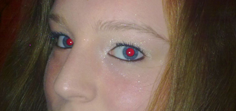 effetto occhi rossi