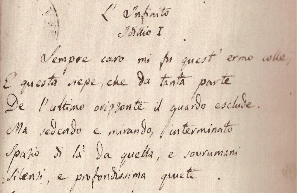 L'Infinito, poesia di Giacomo Leopardi