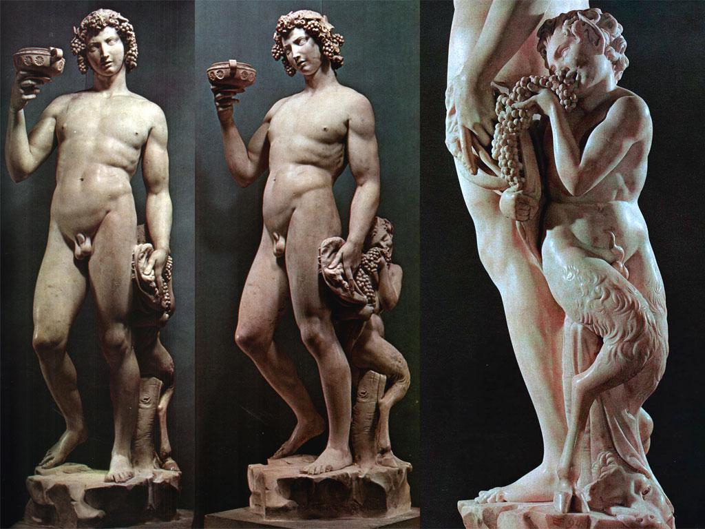 Bacco, scultura di Michelangelo