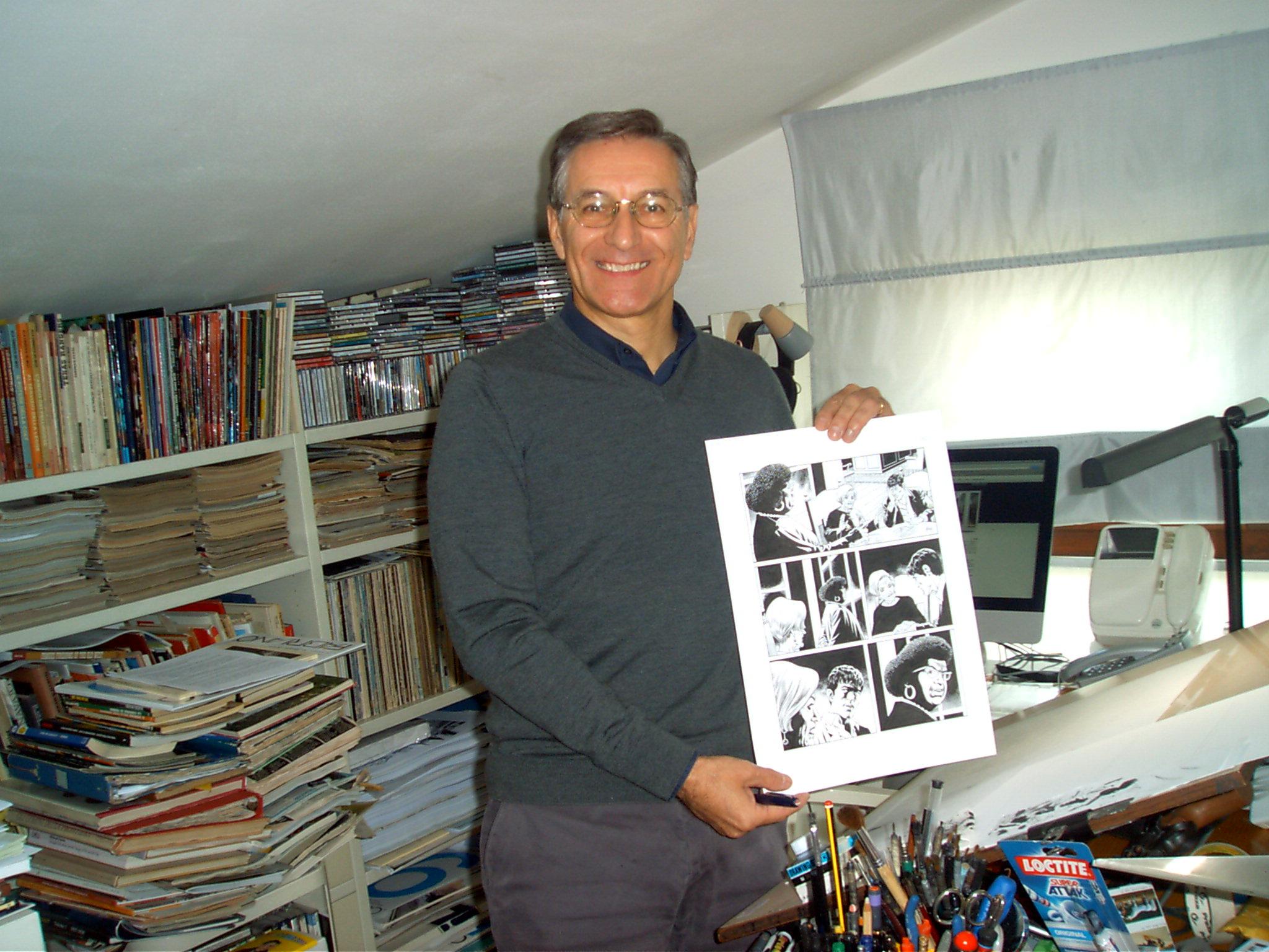 Fabio Civitelli con Tex (foto: Laura Bondi)
