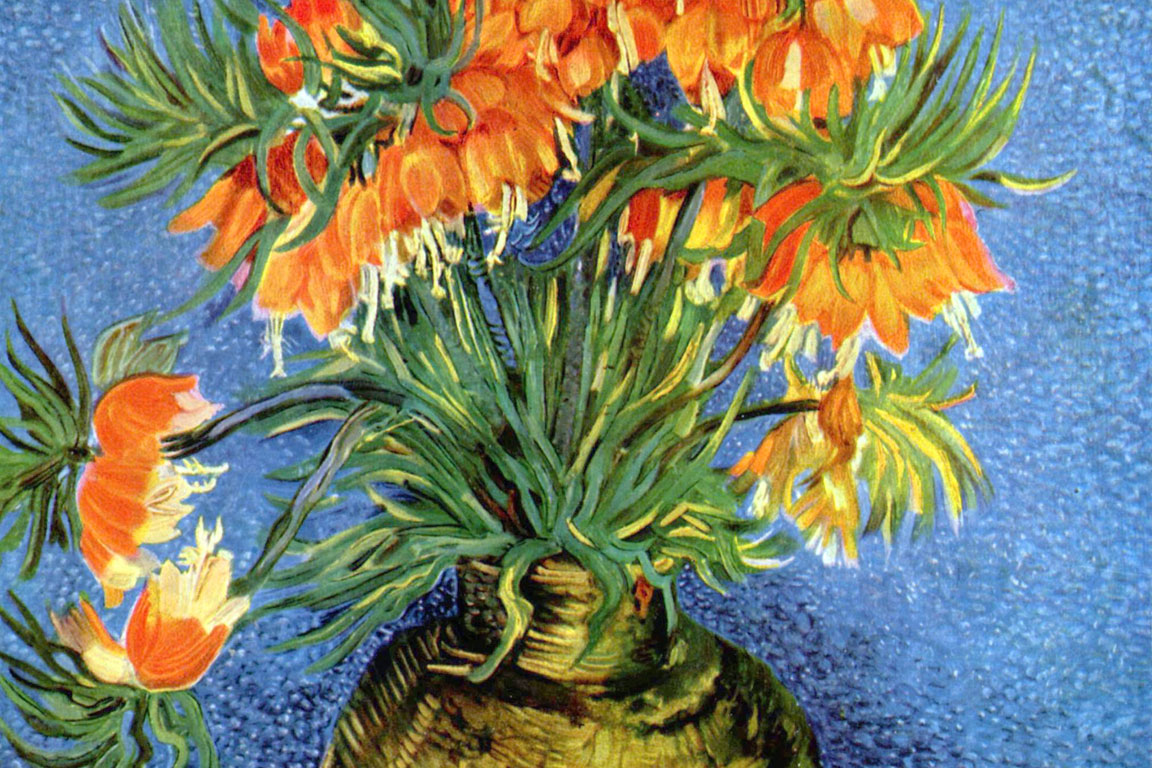 Vincent Van Gogh, Fritillaria imperiale in un vaso di rame (1887)