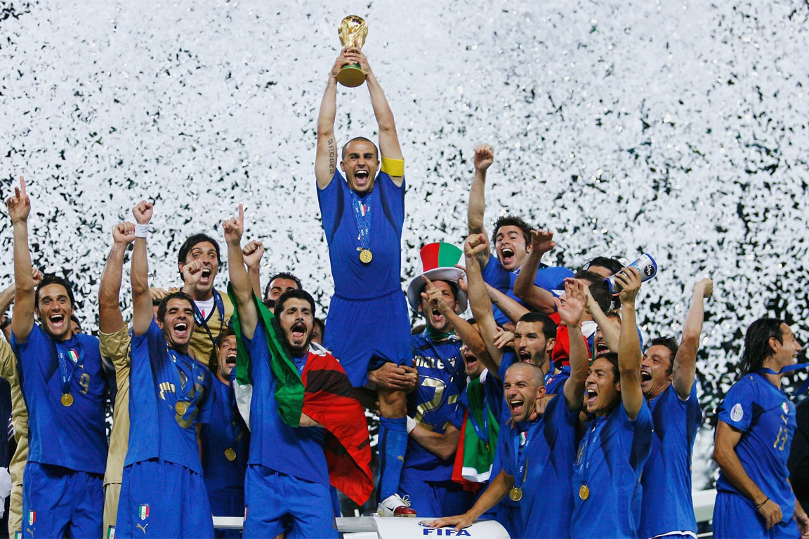 La nazionale italiana di calcio campione del mondo 2006