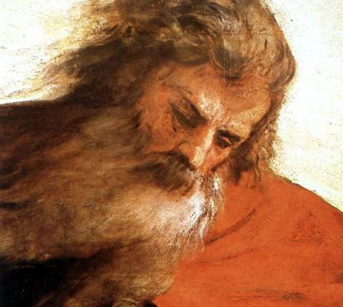 Assunta Tiziano - dettaglio del Padreterno