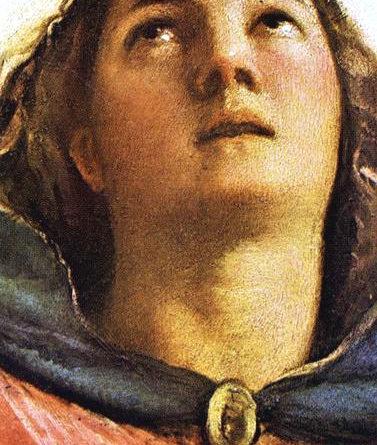 Assunta Tiziano - dettaglio del volto