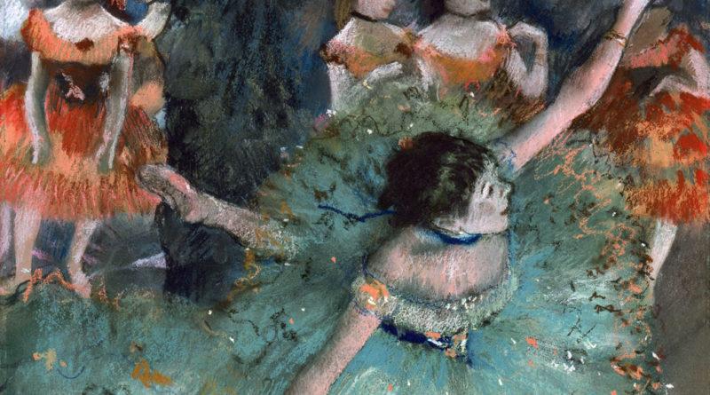 Ballerina Verde - Degas - dettaglio