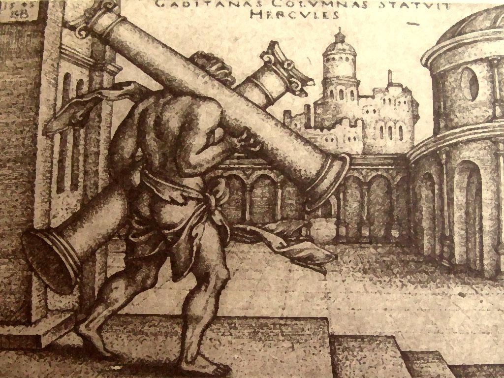 Illustrazione relativa alle Colonne d'Ercole