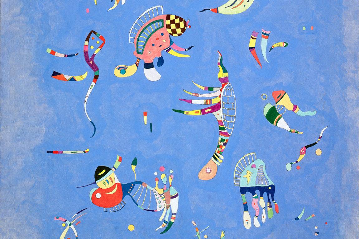 Blu di cielo: dettaglio del quadro del 1940