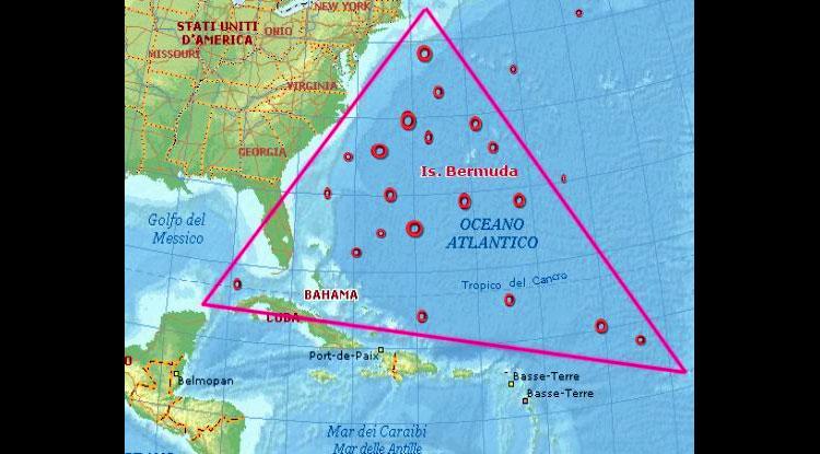 Mappa del Triangolo delle Bermude