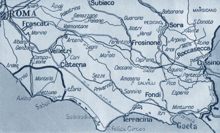 Lo sbarco di Anzio - cartina
