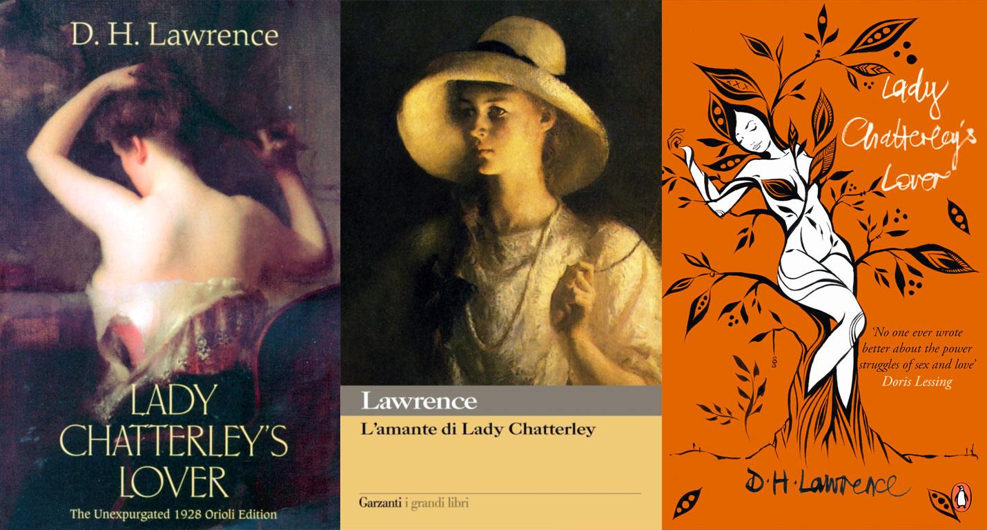 L'amante di Lady Chatterley: copertine del romanzo